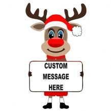 Rudolph Reindeer Custom Message